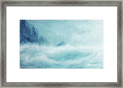 White Storm Framed Print by Paul Rowe