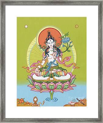 White Tara Framed Print by Carmen Mensink