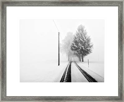 White Tree Gate Framed Print by Franz Bogner
