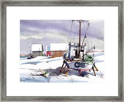 White Waiting Framed Print by Art Scholz