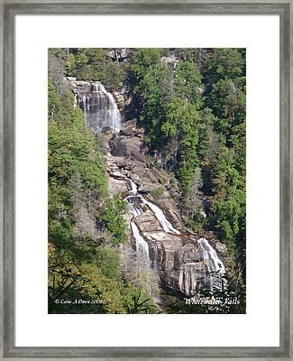 White Water Falls Nc Framed Print by Lane Owen