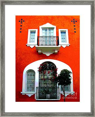White Windows By Darian Day Framed Print by Mexicolors Art Photography
