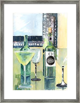 White Wine Framed Print by Arline Wagner