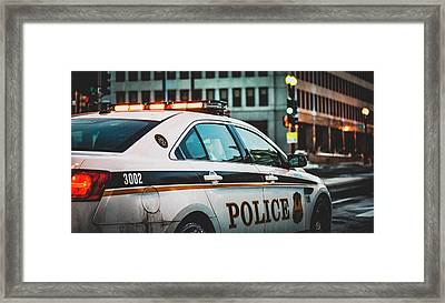 Whitehouse Police Car Framed Print by Mountain Dreams