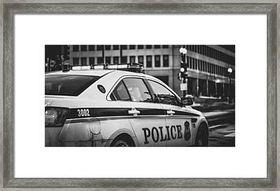 Whitehouse Police Cruiser Framed Print by Mountain Dreams