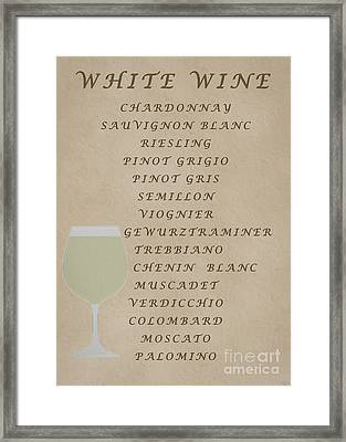 Whites Framed Print by David Millenheft