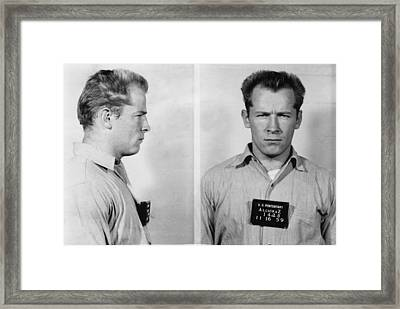 Whitey Bulger Mug Shot Framed Print by Edward Fielding