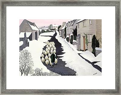 Whittington In Winter Framed Print by Maggie Rowe