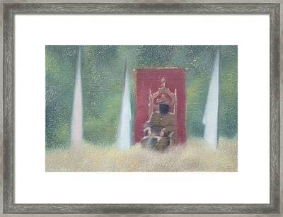 Who Is The King Of Your Life Framed Print by Weiyu Xia