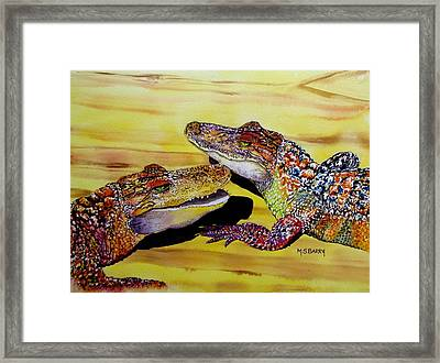 Who Loves Ya Baby Framed Print by Maria Barry
