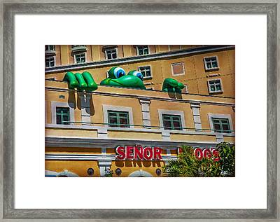Who The Hell Peeps Here Framed Print by Hanny Heim