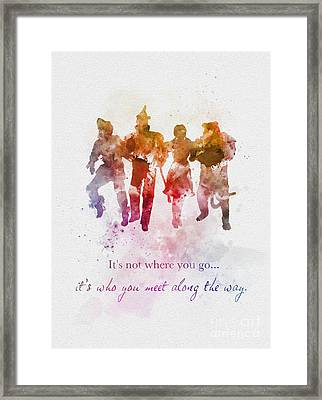 Who You Meet Along The Way Framed Print by Rebecca Jenkins