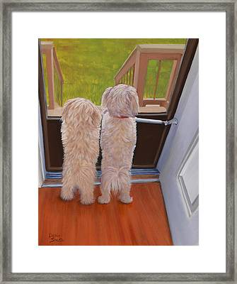 Who's There Framed Print by Danielle Smith