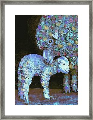 Whose Little Lamb Are You? Framed Print by Jane Schnetlage