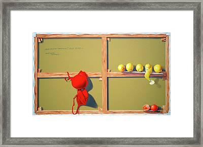 Whose Red Bra. Framed Print by Tautvydas Davainis