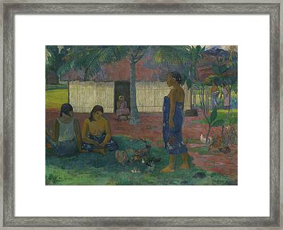 Why Are You Angry Framed Print by Paul Gauguin