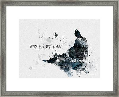 Why Do We Fall? Framed Print by Rebecca Jenkins