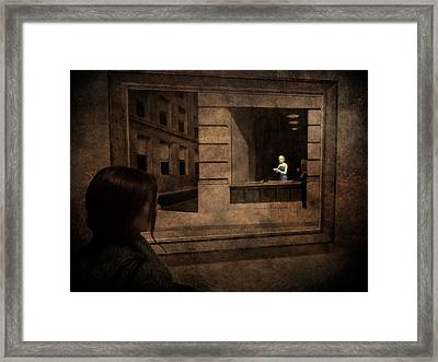 Why Is She Looking At Me Framed Print by Loriental Photography