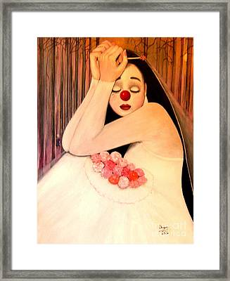Why Is The Bride Crying Framed Print by Patricia Velasquez de Mera