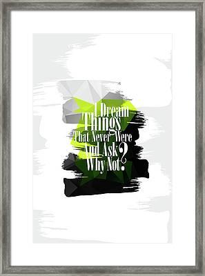 Why Not? Framed Print by Atelier Seneca