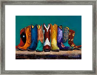 Why Real Men Want To Be Cowboys 2 Framed Print by Frances Marino