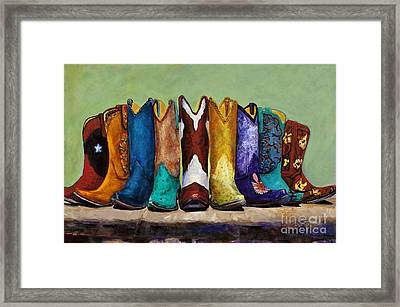 Why Real Men Want To Be Cowboys Framed Print by Frances Marino
