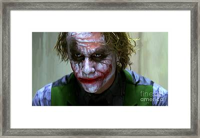 Why So Serious Framed Print by Paul Tagliamonte