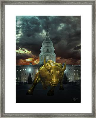 Why Washington Angers Us? Framed Print by IM Spadecaller