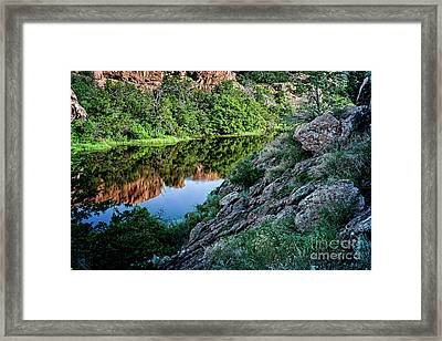 Wichita Mountain River Framed Print by Tamyra Ayles