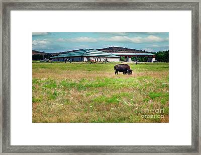 Wichita Mountain Wildlife Reserve Welcome Center II Framed Print by Tamyra Ayles