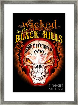 Wicked In The Black Hills - Sturgis 2010 Framed Print by Michael Spano