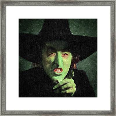 Wicked Witch Of The East Framed Print by Taylan Soyturk