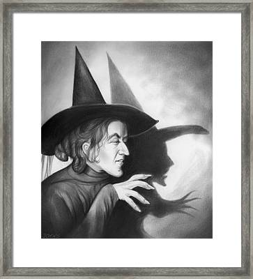 Wicked Witch Of The West Framed Print by Greg Joens