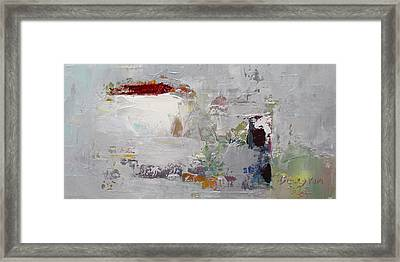 Wide Abstract B Framed Print by Becky Kim