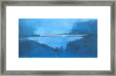 Wide Abstract G Framed Print by Becky Kim