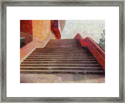 Wide Open Stairs Framed Print by Ashish Agarwal