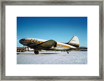 Wien Alaska Airlines Curtiss-wright Cw-20 N1548v Framed Print by Wernher Krutein