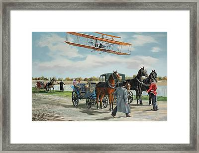 Wilbur Wright In France Framed Print by Kenneth Young