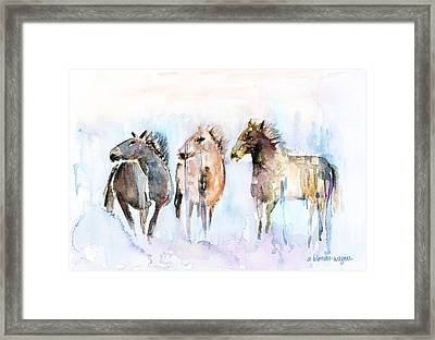 Wild And Free Framed Print by Arline Wagner