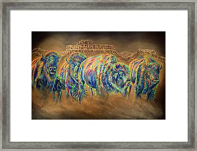 Wild And Free Framed Print by Teshia Art