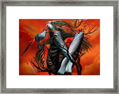 Wild Birds Framed Print by Carol Cavalaris