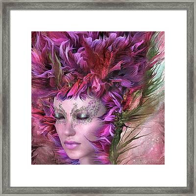 Wild Flower Goddess Framed Print by Carol Cavalaris