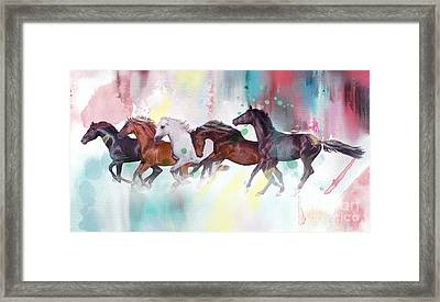 Wild Horse  Framed Print by Mark Ashkenazi