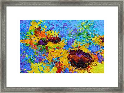 Wild Joy - Modern Impressionist Artwork Colorful Palette Knife Work Framed Print by Patricia Awapara