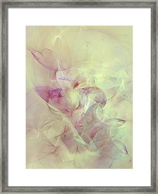 Wild Orchids Abstract Framed Print by Georgiana Romanovna
