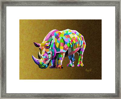 Wild Rainbow Framed Print by Anthony Mwangi