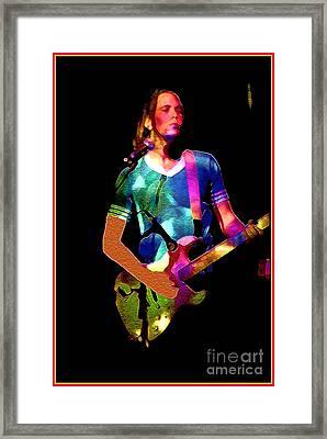 Wild Rock 'n Roll Framed Print by Linda  Parker