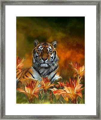 Wild Tigers Framed Print by Carol Cavalaris
