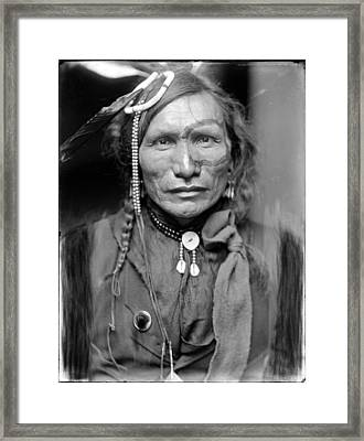 Wild West. Iron White Man, A Sioux Framed Print by Everett