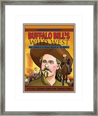 Wild West Show Poster Framed Print by Reynold Jay